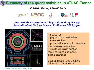 Summary of top quark activities in ATLAS France