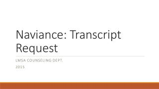 Naviance : Transcript Request
