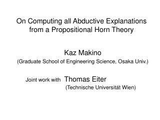 On Computing all Abductive Explanations  from a Propositional Horn Theory