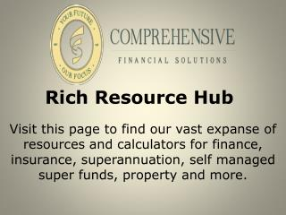 Rich Resource Hub - Comprehensivefinancial