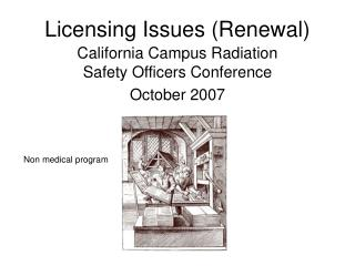 Licensing Issues (Renewal)