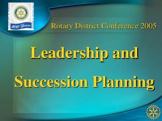 Rotary District Conference 2005