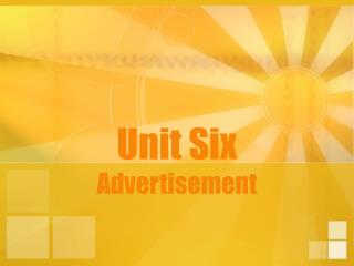 Unit Six Advertisement
