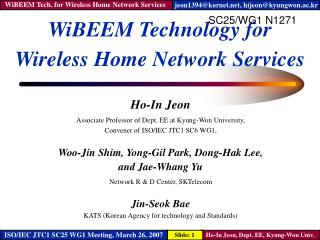 WiBEEM Technology for Wireless Home Network Services