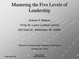 Mastering the Five Levels of Leadership