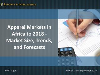 Reports and Intelligence: Apparel Markets in Africa to 2018
