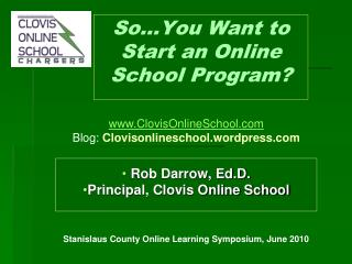 So…You Want to Start an Online School Program?