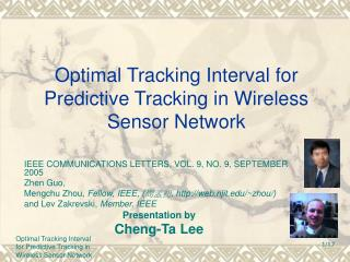 Optimal Tracking Interval for Predictive Tracking in Wireless Sensor Network