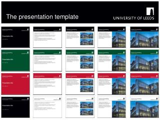 The presentation template
