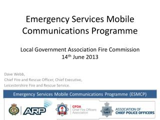 Emergency Services Mobile Communications Programme
