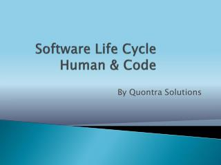 Software life cycle & human & code