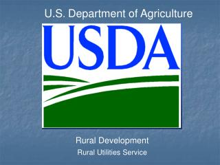 U.S .  Department of Agriculture