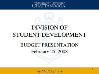DIVISION OF  STUDENT DEVELOPMENT