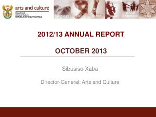 2012/13 ANNUAL REPORT OCTOBER 2013