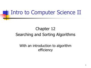 Intro to Computer Science II