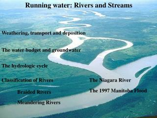 Running water: Rivers and Streams