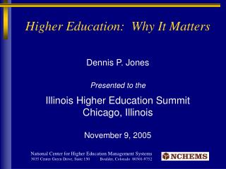Higher Education:  Why It Matters