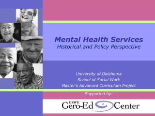 Mental Health Services  Historical and Policy Perspective