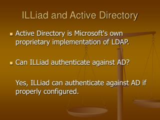ILLiad and Active Directory