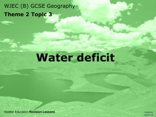Water deficit