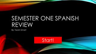 Semester one Spanish review