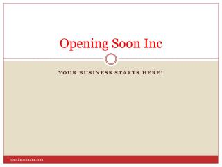 Opening Soon Inc