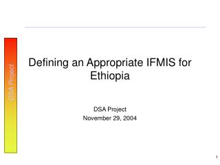 Defining an Appropriate IFMIS for Ethiopia