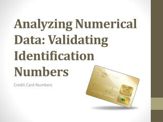Analyzing Numerical Data: Validating Identification Numbers