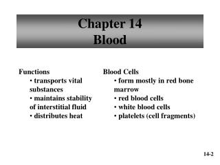 Chapter 14 Blood