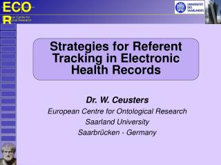 Strategies for Referent Tracking in Electronic Health Records