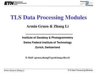 TLS Data Processing Modules