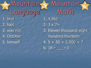 Mountain Language