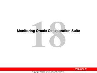Monitoring Oracle Collaboration Suite