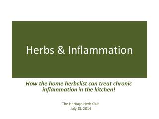 Herbs & Inflammation