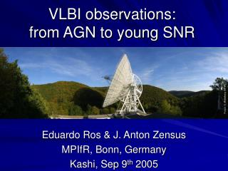 VLBI observations:  from AGN to young SNR