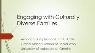 Engaging with Culturally Diverse Families