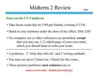 Midterm 2 Review