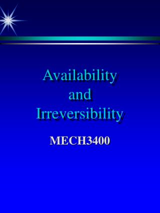Availability and Irreversibility