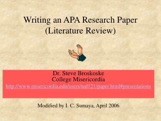 Writing an APA Research Paper (Literature Review)