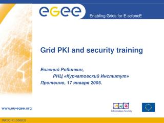 Grid PKI and security training