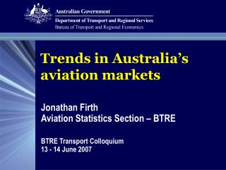 Trends in Australia's aviation markets