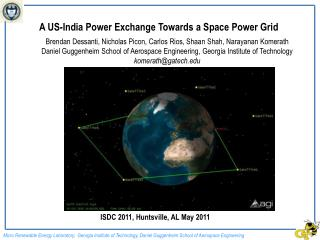 A US-India Power Exchange Towards a Space Power Grid