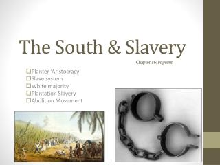 The South & Slavery Chapter 16:  Pageant