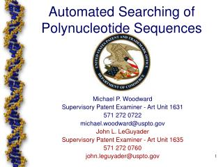 Automated Searching of  Polynucleotide Sequences