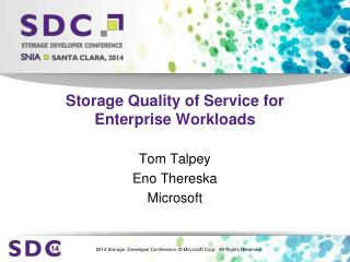 Storage Quality of Service for Enterprise Workloads