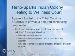 Reno-Sparks Indian Colony Healing to Wellness Court