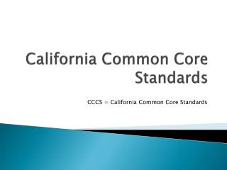 California Common Core Standards