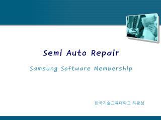 Semi Auto Repair