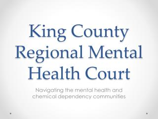 King County Regional Mental Health Court