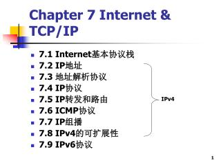 Chapter 7 Internet & TCP/IP